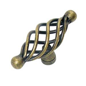 T-Pull Antique Brass