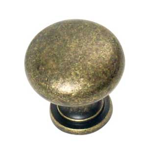 Plain Knob Antique Brass